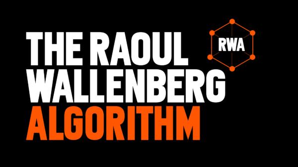 Texten The Raoul Wallenberg Algorithm mot svart bakgrund och med en atomliknande figur med texter RWA i