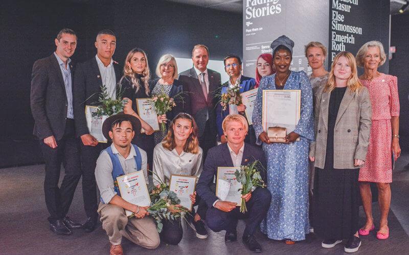 Alla pristagare tillsammans med statsminister Stefan Löfven