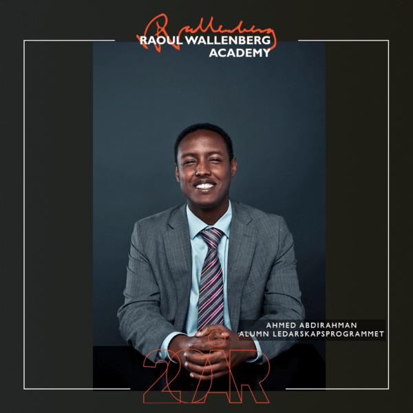 Porträtt på Ahmed Abdirahman, alumn