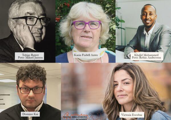 Ett collage med porträttbilder på de nominerade med namnskyltar.
